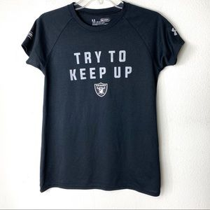 Raiders Under Armour Heatgear Loose Graphic Tee YM